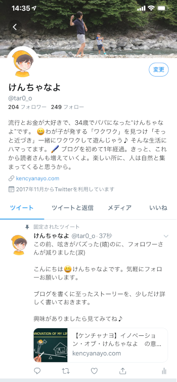 After プロフィール
